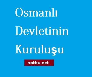 Osmanlı devletinin kuruluşu
