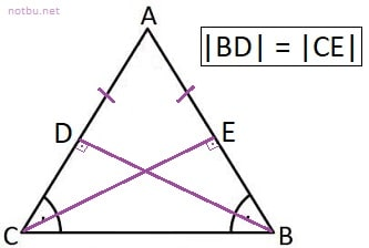 İkizkenar üçgen dikme özelliği