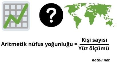 Aritmetik nüfus yoğunluğu