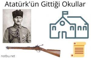 Atatürk'ün gittiği okullar