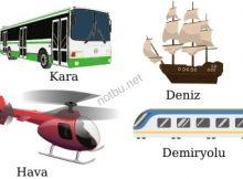 Ulaşım araçları nasıl sınıflandırılır